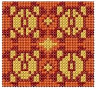 Decorative Cross Stitched Border Free Embroidery Design