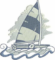Sailing Away Free Embroidery Design