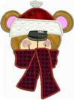 Applique Bear Head Free Embroidery Design