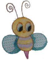Another Cute Bee Free Embroidery Design