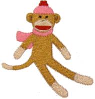 Sitting Sock Monkey Free Embroidery Design