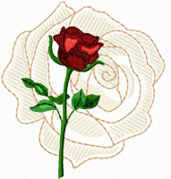 Rose on Rose Free Embroidery Design
