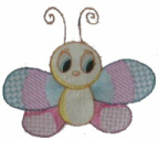 Cute Butterfly 2 Free Embroidery Design