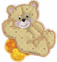 Applique Teddy Bear Free Embroidery Design