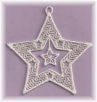 Free Standing Lace Star Ornament Free Embroidery Design