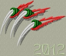 Monster or Dragon Claws Free Embroidery Design