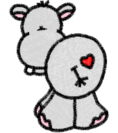 Hippo With Heart Free Embroidery Design