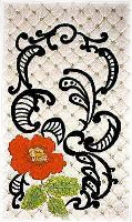 Scroll Floral Free Embroidery Design