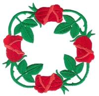 Rose Wreath Free Embroidery Design