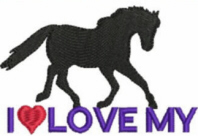 Love My Horse Free Embroidery Design