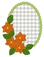 Flowers On Frame Free Embroidery Design