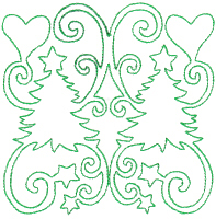 Hearts & Trees Quilt Block Free Embroidery Design