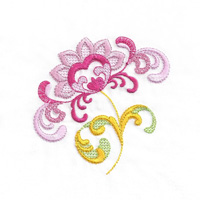 Jacobean Floral 9 Gold Club Design