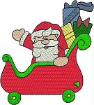 Santa In Sleigh Train Engine Gold Club Design