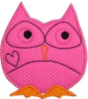 Applique Owl Free Embroidery Design